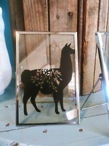 Llama Floral Photo Frame Art Home Decor