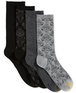 Gold Toe Womens Damask Crew Socks Multi 6-9