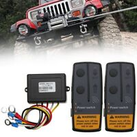 2.4G 12V Wireless Winch Remote Control 2 Handset Switch For Truck SUV ATV US