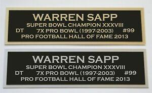 Warren Sapp nameplate for signed jersey football helmet or photo