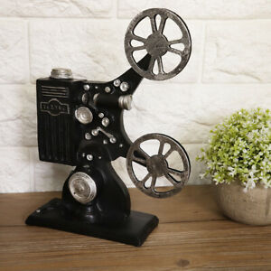 Vintage Resin Movie Film Projector Model Figurine Figure Props Home Decor VI