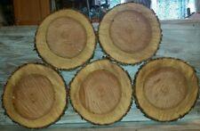LOT OF 5 Fresh Cherry   Slabs Slice Tree Trunk 11