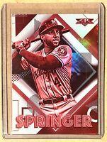 2020 Topps Fire George Springer Red Blaze Parallel Foil SP #126 Houston Astros