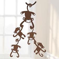 Lambs & Ivy Brown Monkey Wooden Nursery Ceiling Sculptures
