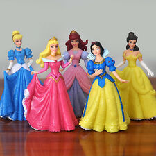 cute princess snow white PVC figure figures set of 5pcs  toys doll L15 Collect