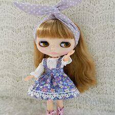 "For 12"" Neo Blythe doll Takara doll 2Pcs Fashion Flowers Colorful Dress/clothing"