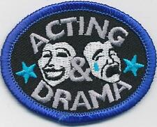 Girl Boy Cub ACTING & DRAMA Fun Patches Crests Badges SCOUTS GUIDES classes