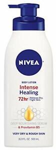 NIVEA Intense Healing Body Lotion - 72 Hour Moisture 16.9 Fl Oz (Pack of 1)