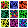 CHOOSE COLOR! 30pcs 8mm NEON Round Beads (UV-Active) Czech Pressed Glass