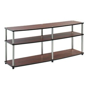 "Convenience Concepts Designs2Go 3 Tier 60"" TV Stand, Cherry - 131060CH"