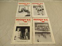 Hockey BC Magazine British Columbia Amateur Hockey Association Lot of 4 1980s