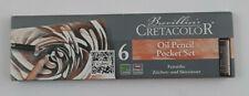 Brevillier's cretacolor Oil Pencil Pocket Set 6 pencils tin container US Seller
