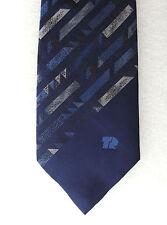 TR Fastenings vintage tie Navy blue corporate engineering company logo UNUSED
