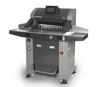 """520mm 20.5"""" Hydraulic Paper Guillotine Cutter Programmable+Roll Ball&Side Table"""