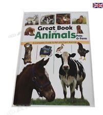 GRANDE LIBRO DEGLI ANIMALI PET & Fattoria Gatto, Cane Cavallo Animali da fattoria cura di primo soccorso guida
