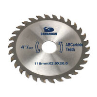 4 Inch 30 Teeth Circular Saw Blade for Cutting Wood Aluminum Tool 110X2.0X20MM