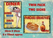 American Diner Deko-Schilder & -Tafeln im Antik-Stil günstig ...