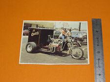 CHROMO CHOCOLAT POULAIN 1976 CONNAISSANCE CYCLE MOTO TRIKE V8 USA