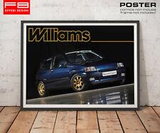 POSTER Locandina Tributo Renault Clio Williams 16V Mitica anni 90 Garage Rally