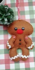 Cute Jointed Gingerbread Man Handmade Christmas Decorations