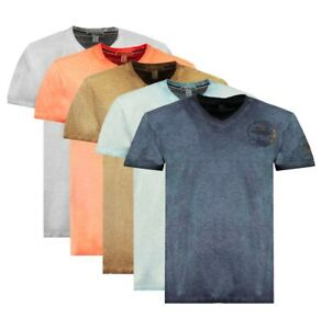 T-shirt Jaboom Geographical Norway Uomo 100% cotone maglia manica corta WN957...
