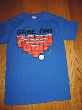 """Beer Pong Red cup shirt Size small """"GAME ON"""" New with Tags  Drinking Fun"""