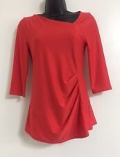 Ex Ladies: Size 6-20 Red Side Twist Pleat Formal Casual Everyday Blouse Top