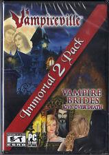Vampireville / Vampire Brides Love Over Death Immortal 2 Pack PC CD-ROM Game New