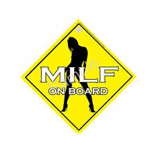 MILF On Board -Window Sign PGS170WS- FREE UK POSTAGE