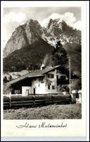 GRAINAU AK ~1950/60 Haus Malerwinkel Zugspitzstrasse alte Postkarte Bayern