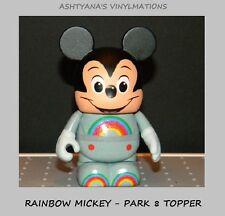"DISNEY VINYLMATION 3"" ★ PARK 8 ★ RAINBOW MICKEY ★ TOPPER - ONLY ★"