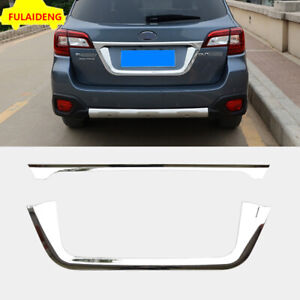 For Subaru Outback 2015-2019 Chrome Rear Tail Trunk Lid Cover License Pate Trim