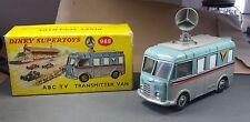 DINKY TOYS% 988 ABC TV TRASMETTITORE furgone con scatola originale e Antenna tetto piatto
