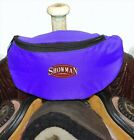 ROYAL BLUE Insulated Nylon Saddle Horn Pouch Bag Trail Riding NEW Horse Tack