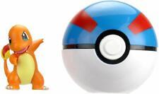 New Pokemon Clip 'N' Go Charmander Figure w/ Great Ball Set Vhtf New Sealed