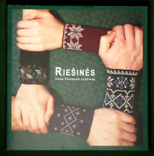 BOOK Lithuanian Folk Costume ethnic knitting pattern wrist cuffs gloves beadwork