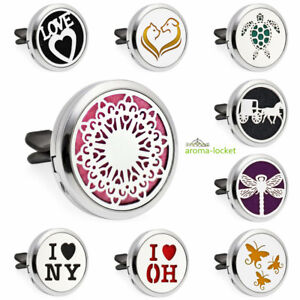13 Style Alloy Car Air Vent Freshener Essential Oil Diffuser Locket Best Gift