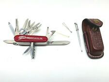 VICTORINOX OFFICIER SUISSE 18 Tool Swiss Army Knife Leather Case Private Label