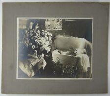 "Antique Post Mortem Cabinet Photo 1907 Baby Girl Casket Coffin Millvale PA 14"""