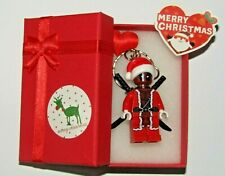 Dead Pool Santa Claus Keychain & Lovely  Present Box