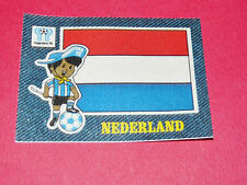 PANINI FOOTBALL 1978 ECUSSON JEAN DENIM NEDERLAND ARGENTINA 78 WC WM MUNDIAL