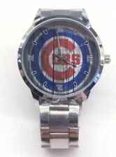 Chicago Cubs Men/Women Casual Watch w/Silver Color Stainless Steel band