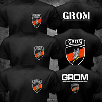 Thunder JW GROM Poland Special Force Unit Army Counter Terrorist Black T shirt