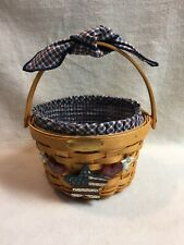Longaberger (2002) Round Woven Memories Basket with Moveable Handle