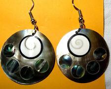 Boucles d'Oreilles Œil de Sainte Lucie Shiva Eye Nacre Bijoux Ethnique