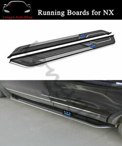 2PCS Running Boards fits for Lexus NX200 NX300h 2015-2020 Side Step Nerf Bars