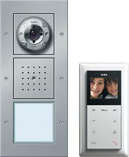 Gira 049545 Einfamilienhaus-Paket Video Außenstation alu Sprechanlage Monitor