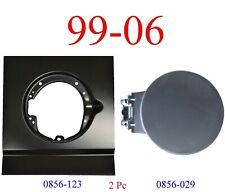 99 06 Chevy 2Pc Fuel Patch & Fuel Door For Bedside Rust Repair, Opening Area GMC