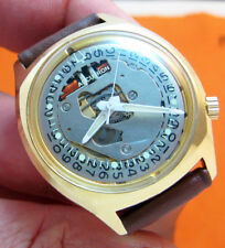 SERVICED ACCUTRON 218D SPACEVIEW CRYSTAL 14KT. GOLD FILLED  TUNING FORK WATCH M9