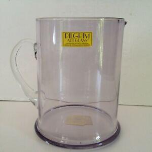 """Pilgrim Art Glass Handmade Large 7"""" Light Lavender Straight-sided Pitcher #100"""